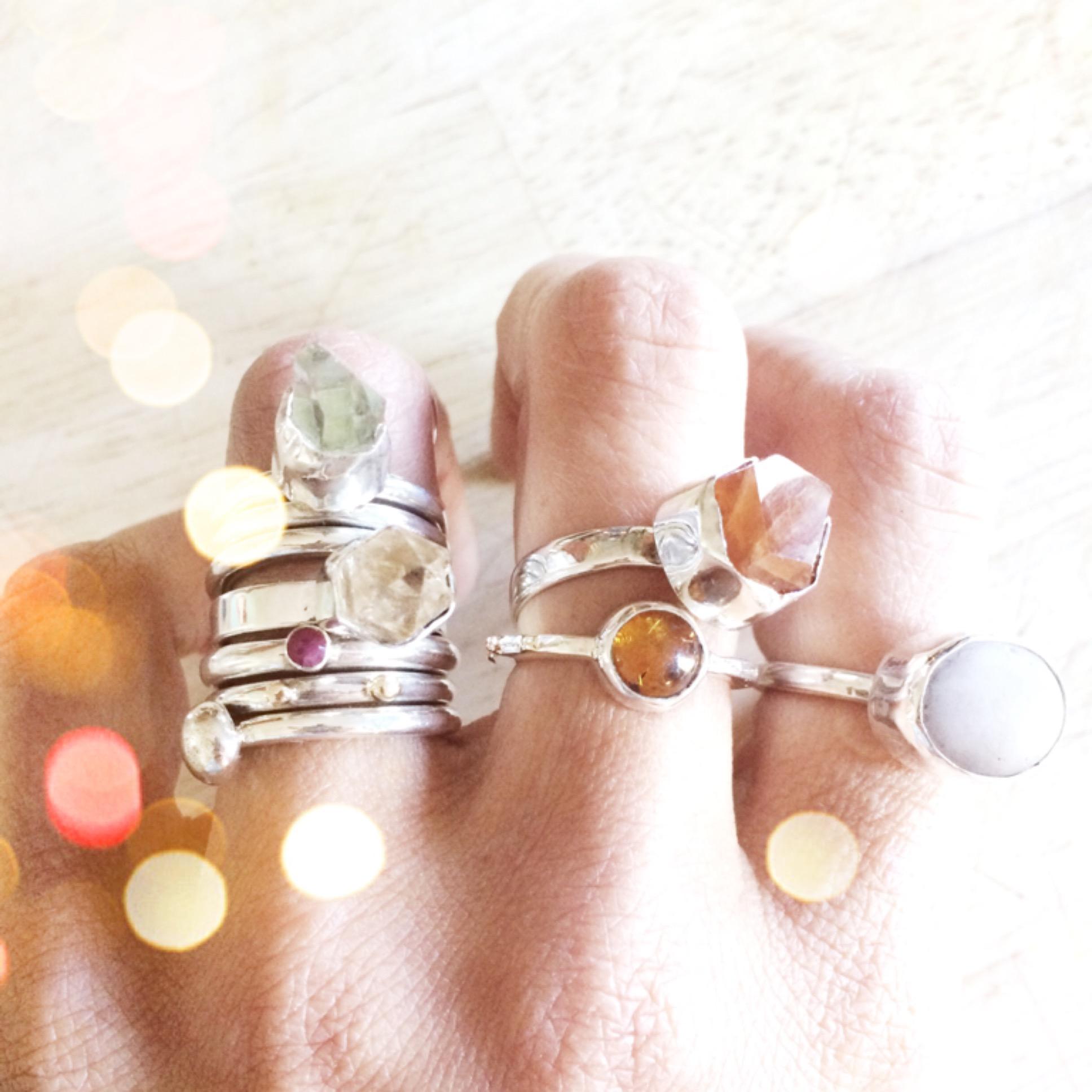 crystal rings by loving anvil