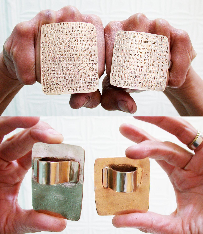 jabberwocky ring set by loving anvil
