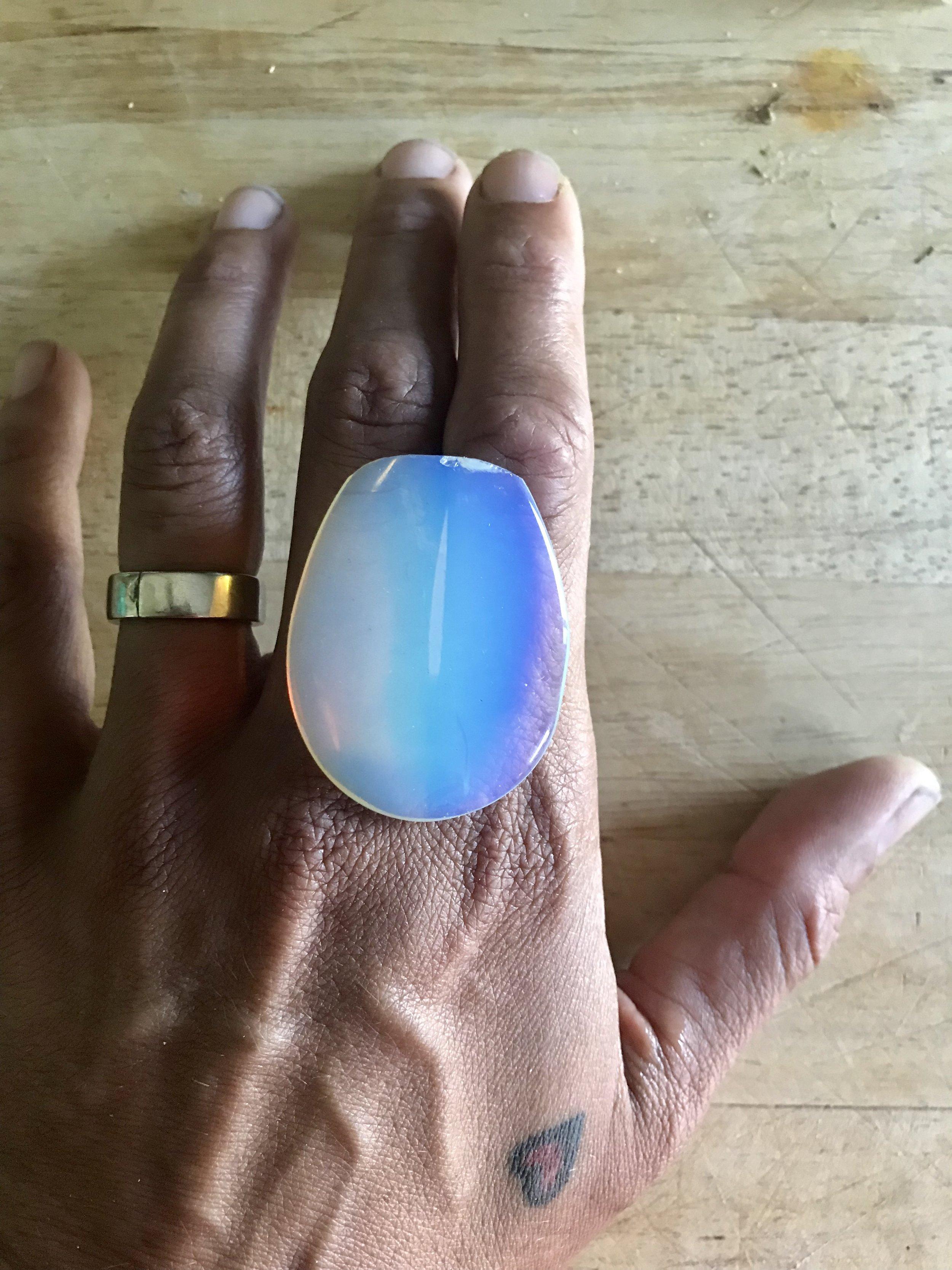 opaline glass on hand