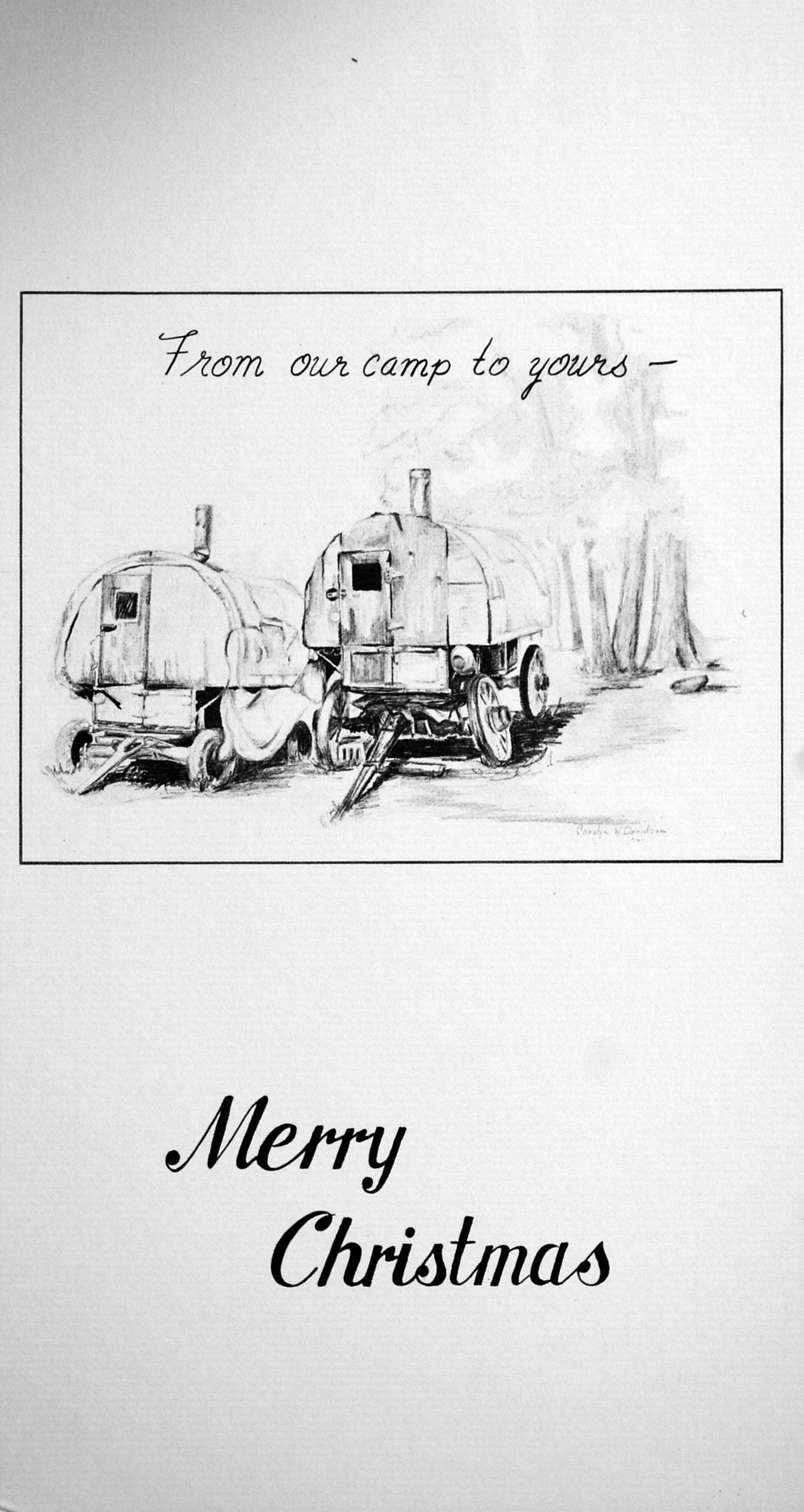 """""""From our camp to yours""""    """"Merry Christmas""""    ( Sheep Camps )"""
