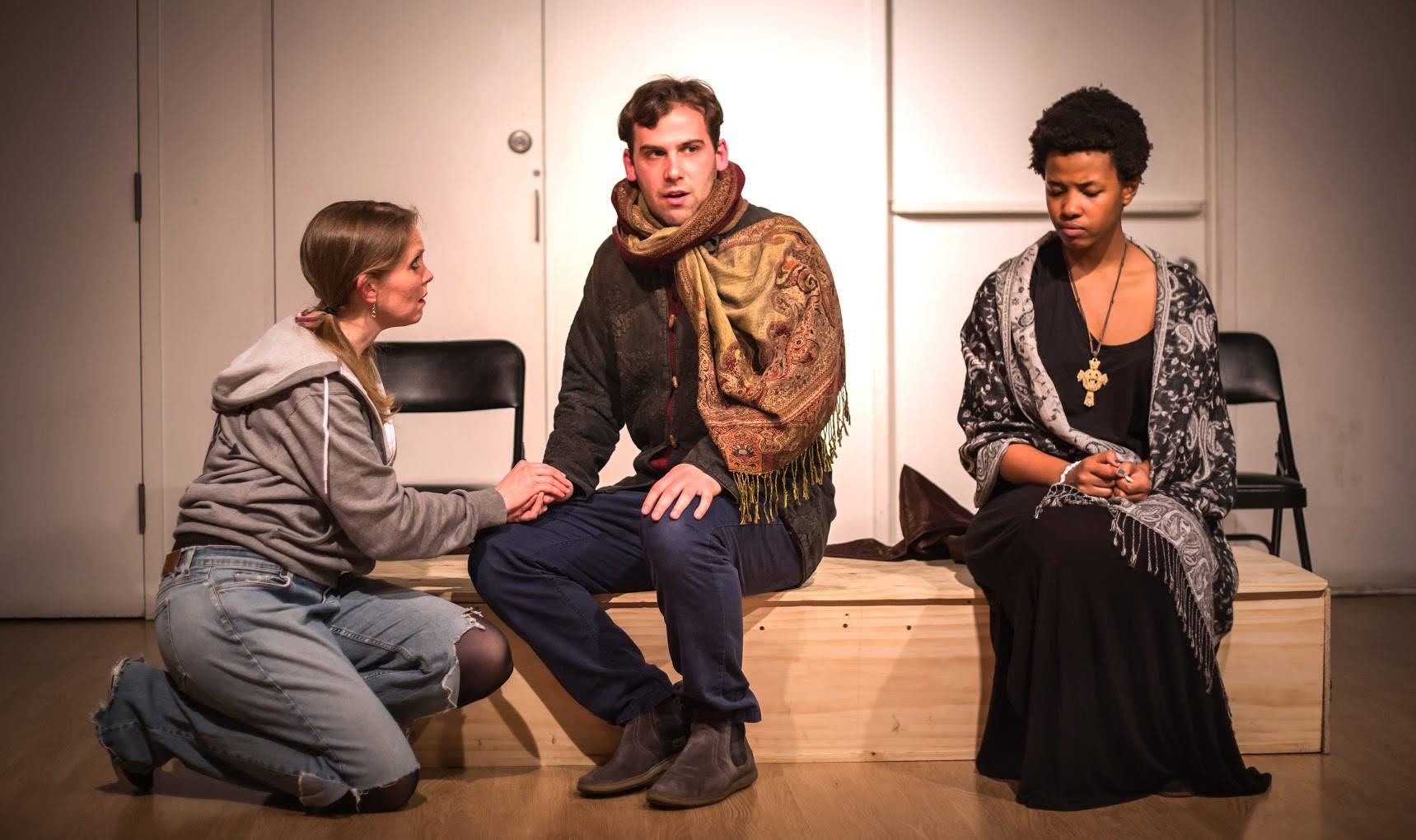 Kitty Mortland as Aumerle, Morgan Hooper as Richard II, Kineta kunutu as bishop Photography by John robert hoffman