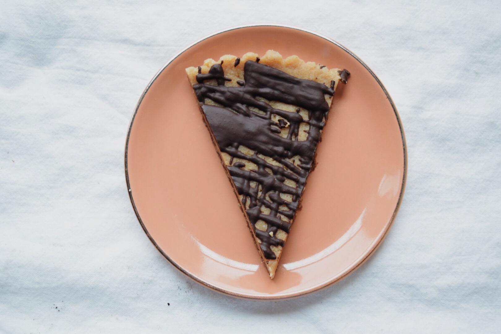vegan + paleo peanut butter tart