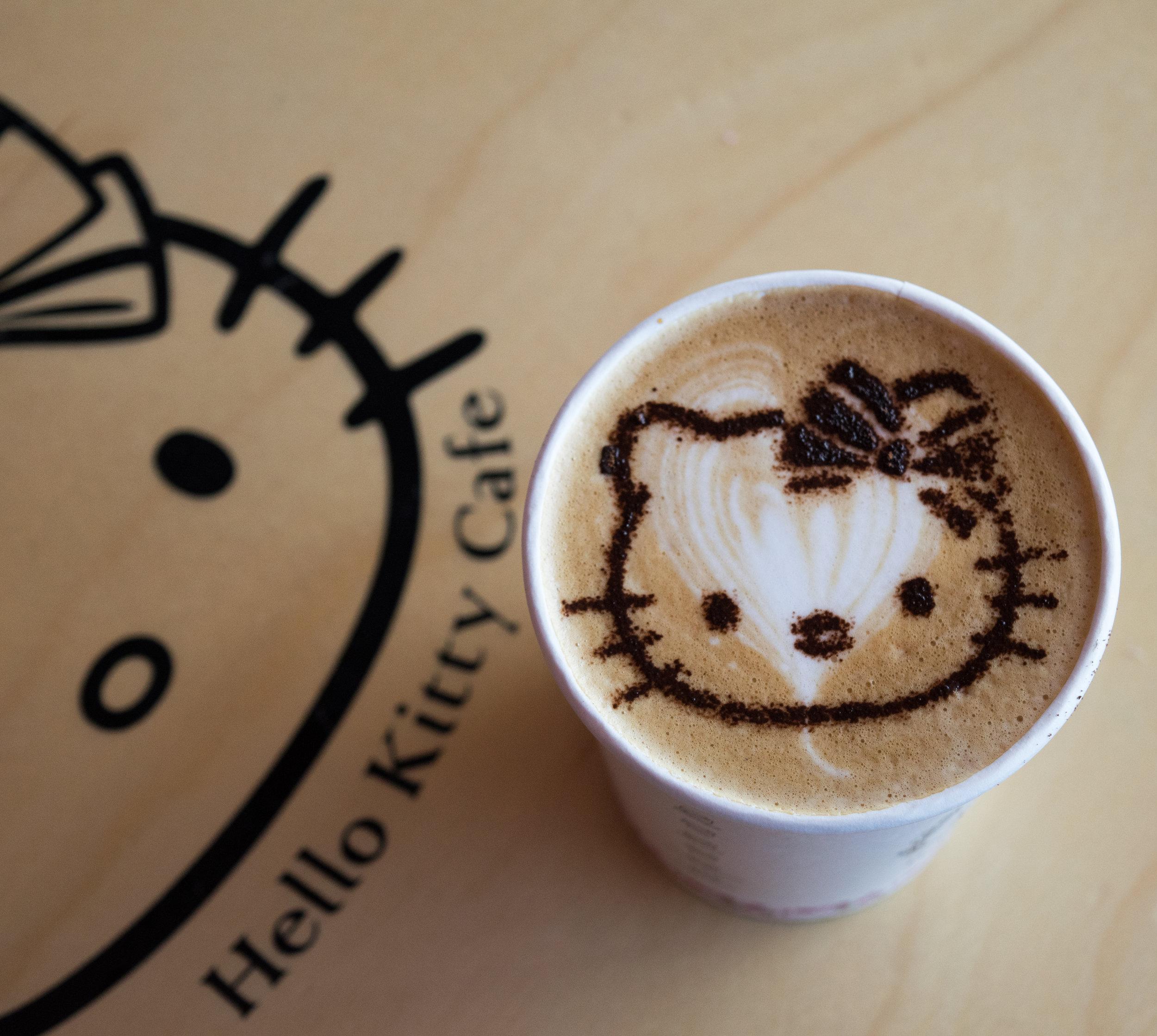 hello kitty cafe, jeju island, south korea