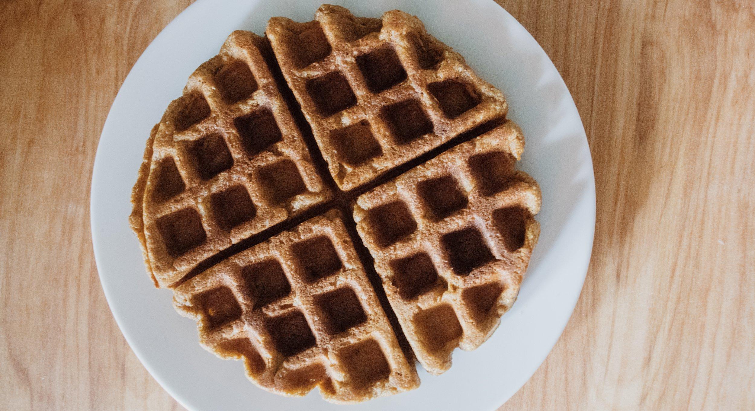 Pumpkin Spice Latte Waffles | Vegan + Gluten Free | embroidered space machine