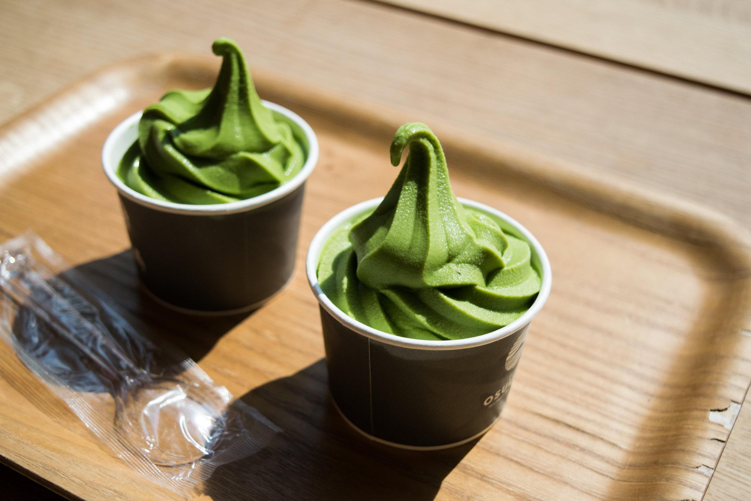 Osulloc green tea ice cream