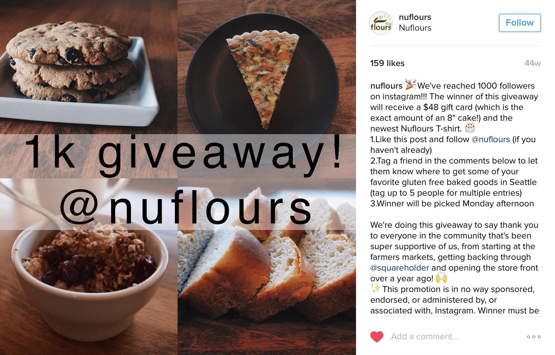 Nuflours 1K Giveaway