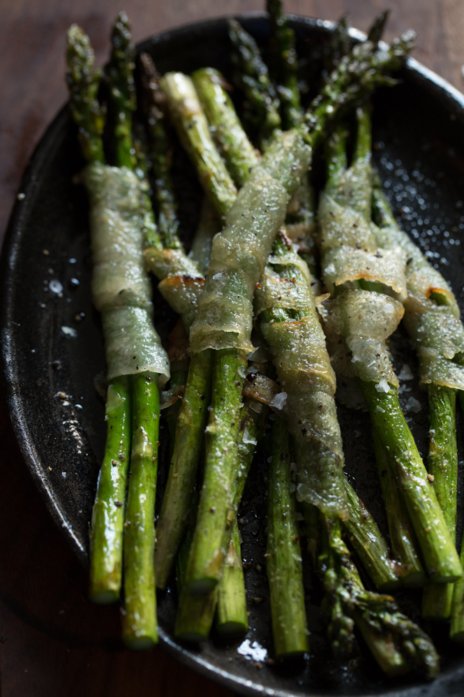 GRILLED ASPARAGUS wrapped with lardo