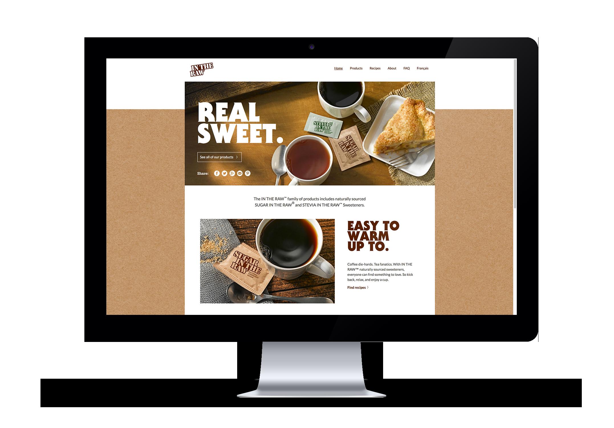 Sugar In The Raw Site Design