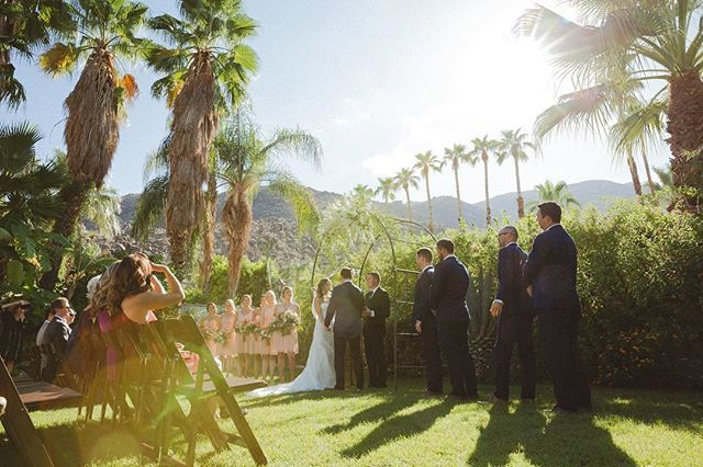 A perfect desert oasis 🌵 wedding at this stunning venue🌴. #weddings #wedding #weddingvenue #weddingdress #weddingday #theknot #weddingwire #weddingofficiant #weddingofficiants #ocwedding #palmsprings #visitpalmsprings #palmspringswedding