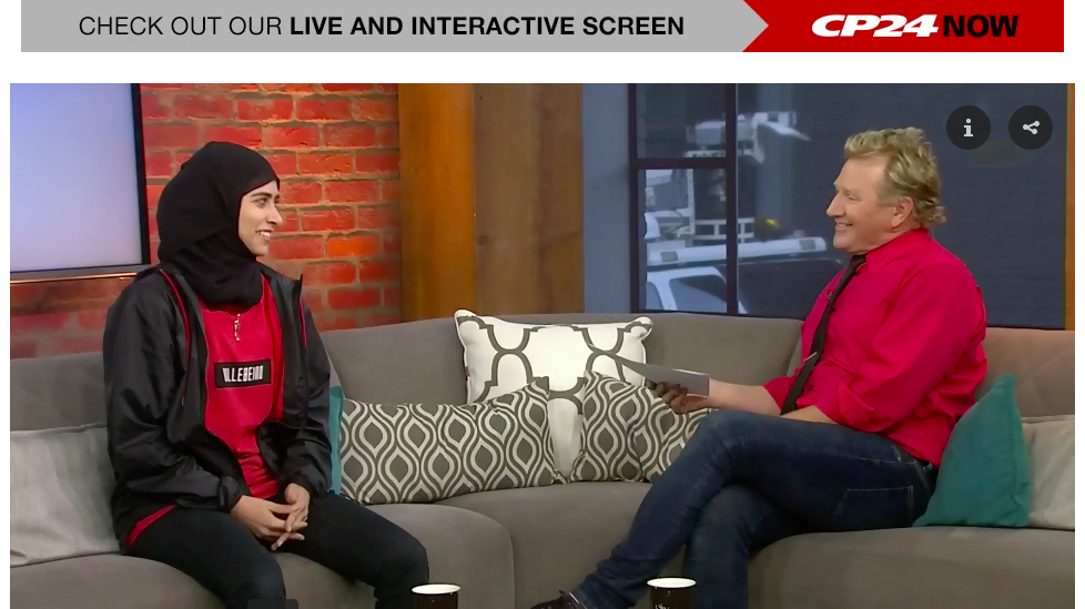 Fatima Al-Ali speaking to Steve Anthony of CP24 News