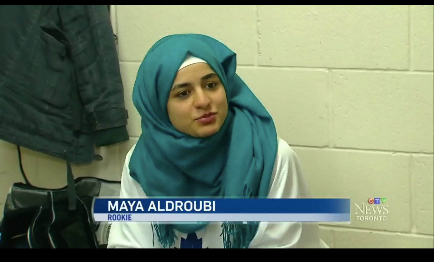 CTV News Report at 6pm  with Hockey 4 Youth students Maya Aldroubi & Khaled Al-Mouktaran. They spoke to Sean Leathong about the challenges back in Syria & what learning hockey has meant to them.
