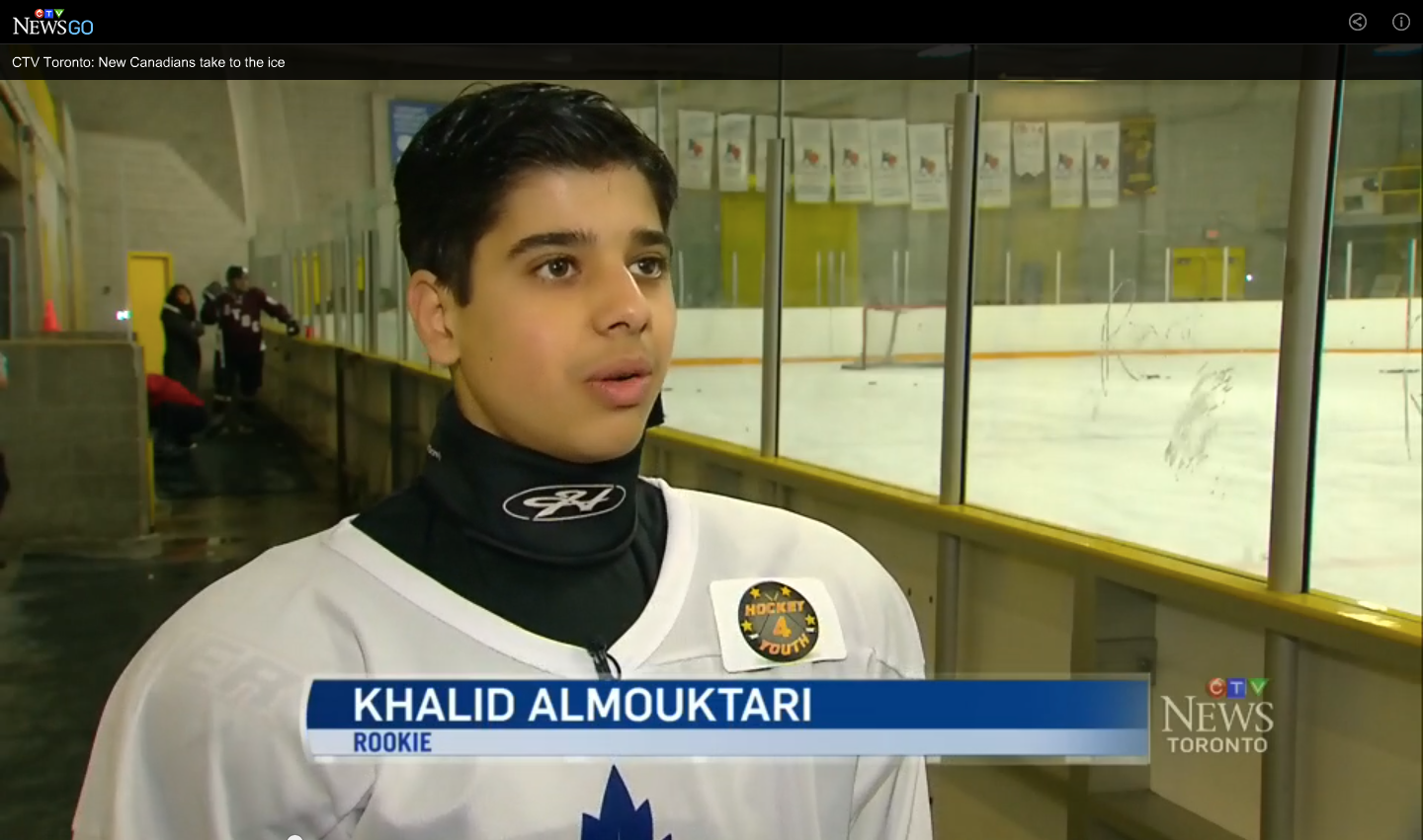 CTV News LIVE at noon  with Khalid and his conversation about the thrill of playing hockey.