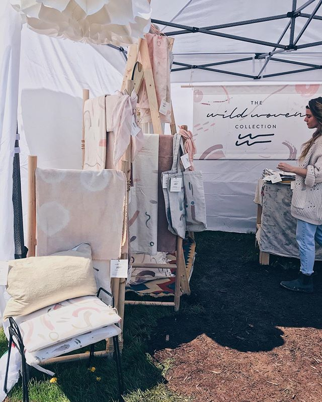 ✨biggest thanks to everyone who came to visit & support @wildwovencollection at the @handmademarketniagara this past couple days. I'm overwhelmed by how amazingly sweet & kind you all were, especially those surprise visitors! This was our first ever market & we're excited for the next and all that is to come for our little botanically-dyed textile company 💫 #wildwovencollection #botanicaldyes #madeincanada