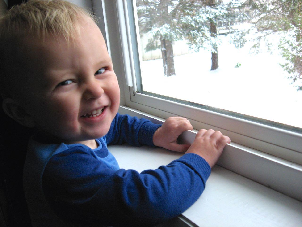 Window snow!