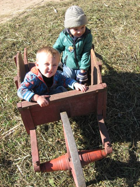 Boys in a Barrow