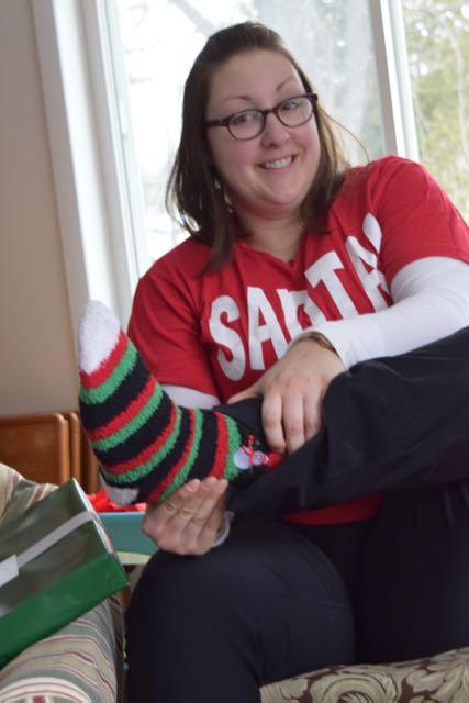 Julie wore her socks!