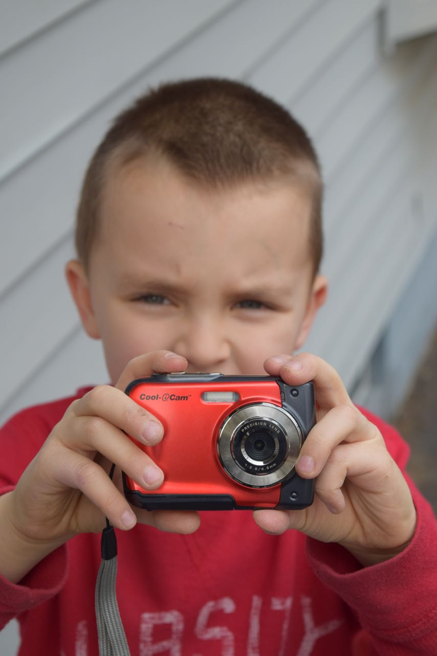 Yep, there's the budding photographer