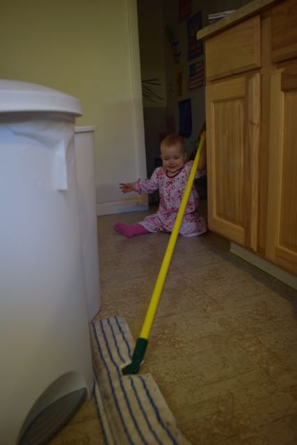 Eliora Helps with Sweeping