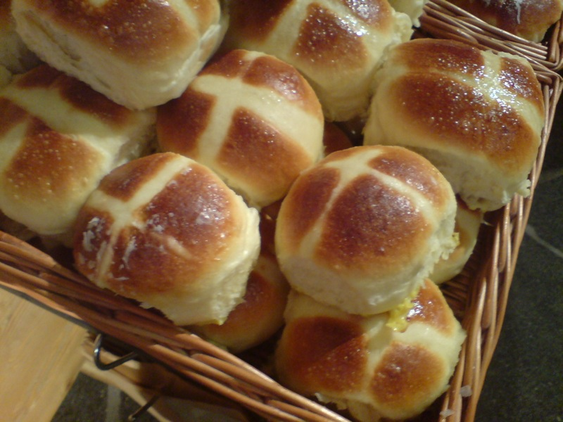 These hot cross buns are a great way to start improvising. I'm sure they also taste great.