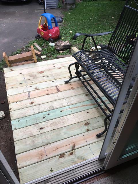 James built a back entrance!