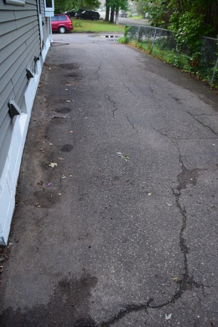 Say goodbye to the old driveway...