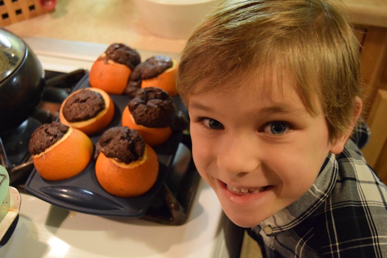 Orange brownies!