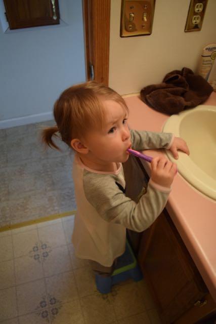 yes, brush teeth