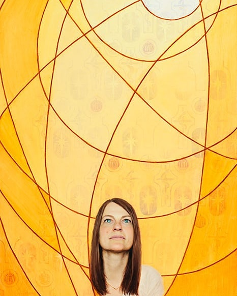 "This painting is going to be displayed in the Certain Women Art Show (@certainwomenartshow) which opens Thursday, October 3rd, at Anthony's Fine Art. This is titled ""Look and Live."" We were invited to write a personal purpose statement and create a work of art around that. Here is my statement and a further description of the art show:  Look and Live  Jesus Christ is the source of my light. When I look to Him I grow and live. Without a strong connection to Him, I begin to spiritually die.  Just as the children of Israel looked to the brazen serpent to be healed and Lehi's family looked to the Liahona for guidance to the promised land, I look to God each day when I choose to perform small and simple acts of faith including: meaningful prayer and scripture study, ministering to those around me, weekly temple attendance, watching only wholesome entertainment, and taking care of my body. It is through these simple, yet significant, actions that I strengthen my connection to God and truly live. . . Certain Women is an invitational exhibition, unique in that it exclusively features the work of Latter-Day Saint women artists. We seek to showcase our unique perspectives as women of the Church of Jesus Christ of Latter-day Saints and highlight the diverse artistry of our collective. Knowing that our voices are stronger together than they are apart, we unite our voices in order to amplify our influence. By offering first-person narratives, we aim to overcome pervasive stereotypes. We are women of vision who act deliberately—we are thoughtful, strong, and certain. This Year's theme is Statements of Purpose While speaking to the women of the Church this fall, President Nelson encouraged us to: "" . . . study the current Relief Society purpose statement. It is inspiring. It may guide you in developing your own purpose statement for your own life."" We invited 90 artists to develop a purpose statement for her own life, and create a new work of art for this show that conveys that purpose.  #certainwomen #certainwomenartshow #certainwomenart #ldswomen #ldsart #ldswomenartists #latterdaysaintart #religiousart #latterdaysaintwomen #latterdaysaintwomenartists #zionartsociety"