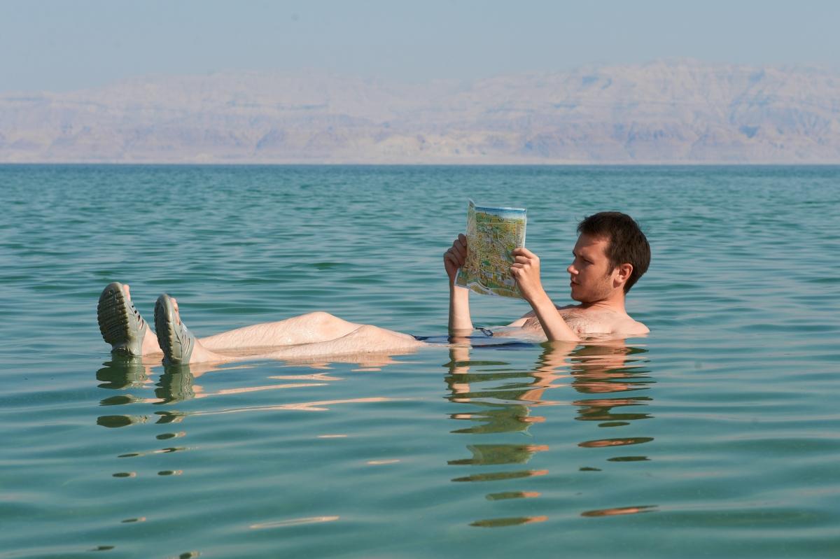 Swimming in Great Salt Lake