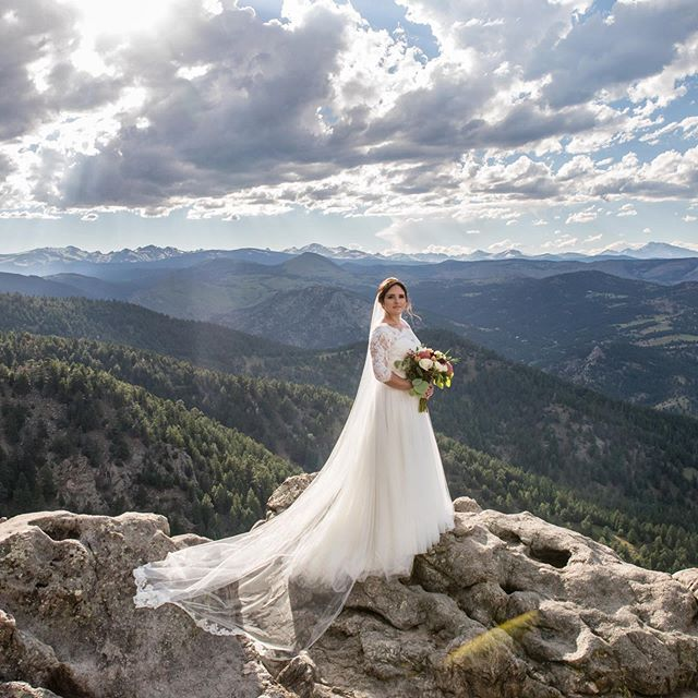 This bride, this light, this view! So lucky to live in this magical place.