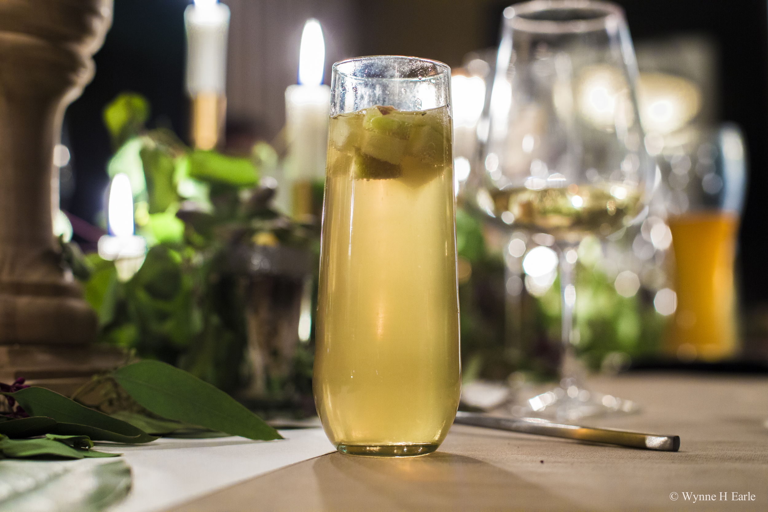 A delicious spiced cider champagne cocktail - recipe below: