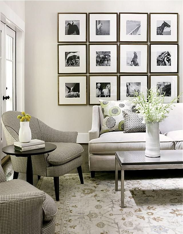 Changing out artwork from picture frames in gallerie walls such a this one or putting up new pieces of art all together is a fun change and a great wayrotate your favorite photos and pieces of art.