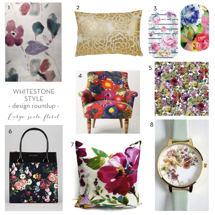 large scale floral roundup | floral inspired items available summer 2015 | floral interior decor | floral fashion |