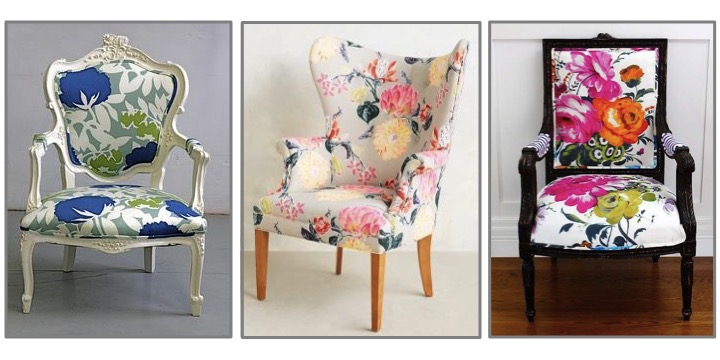 large scale floral chairs | floral furnishings | floral chairs