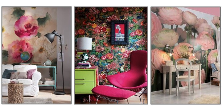 large scale wall murals | large scale wallpaper | schumacher wallpaper | floral wall art