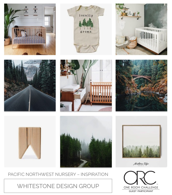 Whitestone Design Group | Pacific Northwest Nursery | One Room Challenge | Inspiration Board