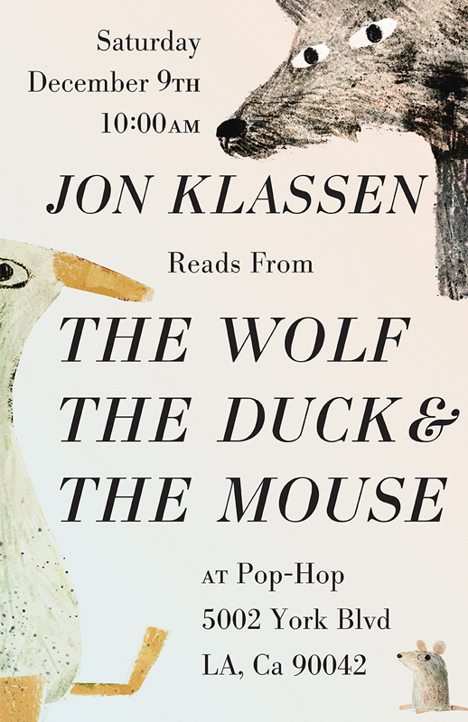 JON KLASSEN reads THE WOLF, THE DUCK & THE MOUSE - 12/09/2017