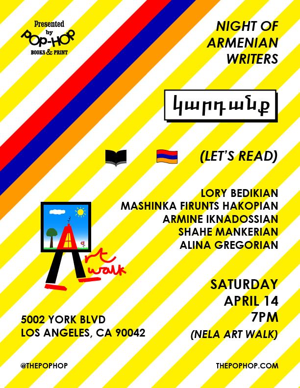 NIGHT OF ARMENIAN WRITERS - 04/14/2018