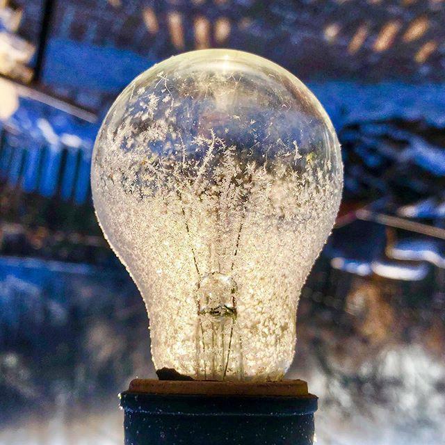Frozen Idea - China, 2018 #winter #lightbulb #heresanidea #frozen