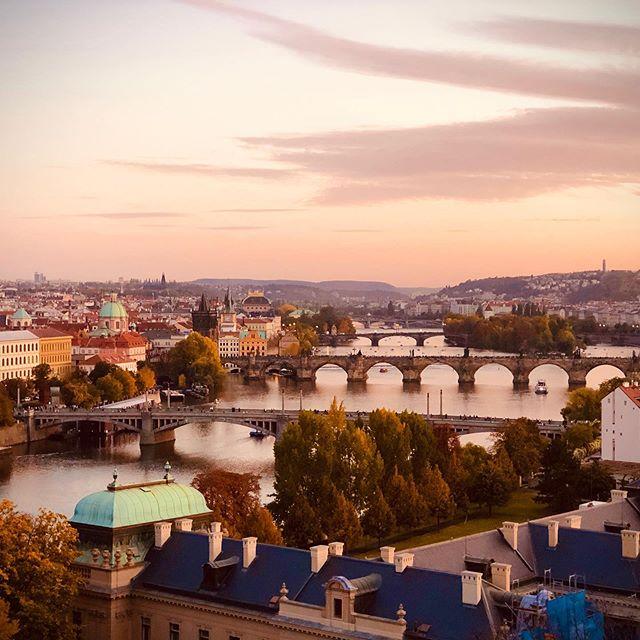 A Bridge Too Far - Prague, Czech #charlesbridge #prague #czech #sunset #shotoniphone