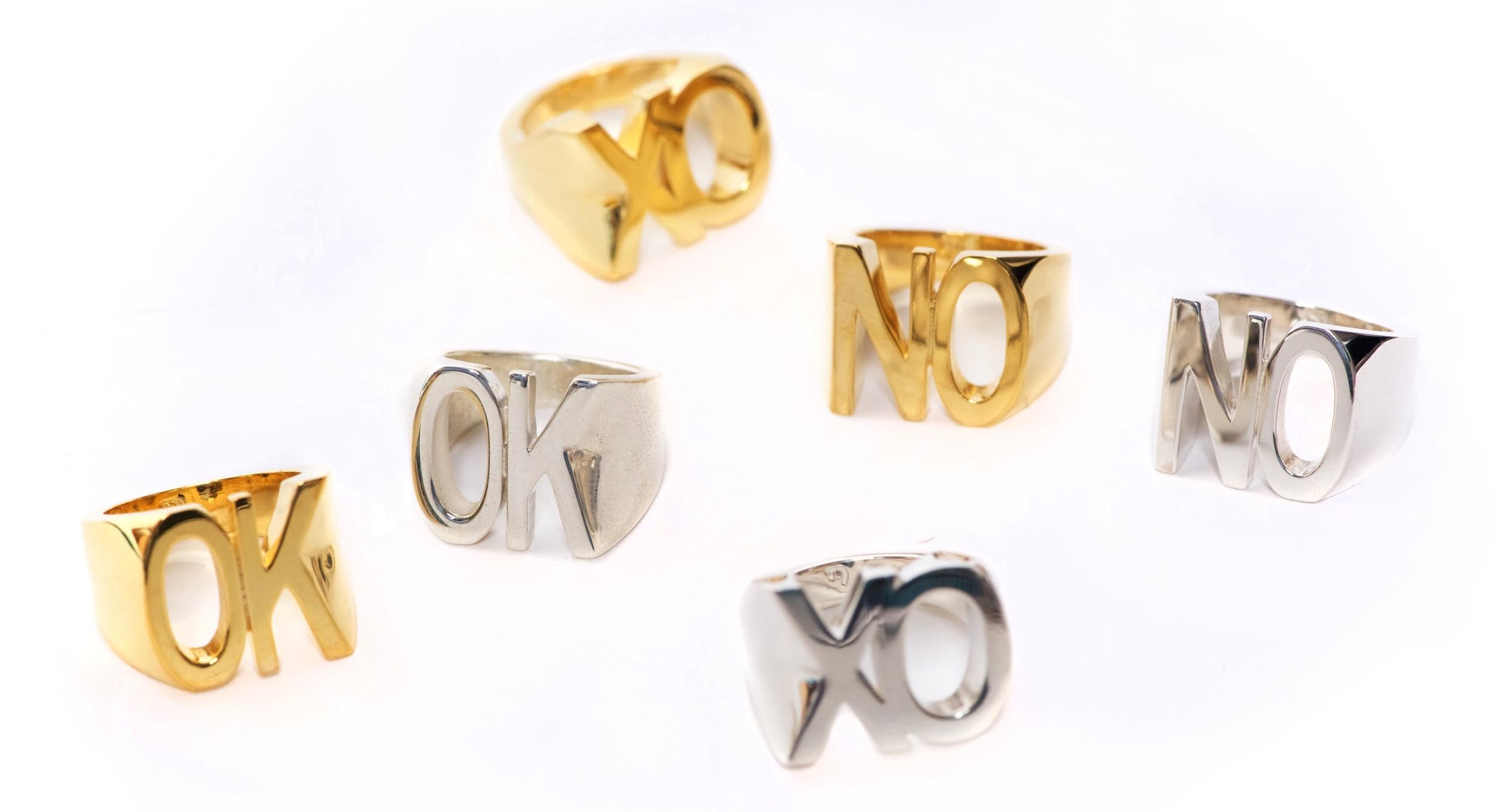 Danielle Lee Jewellery XO OK NO Rings