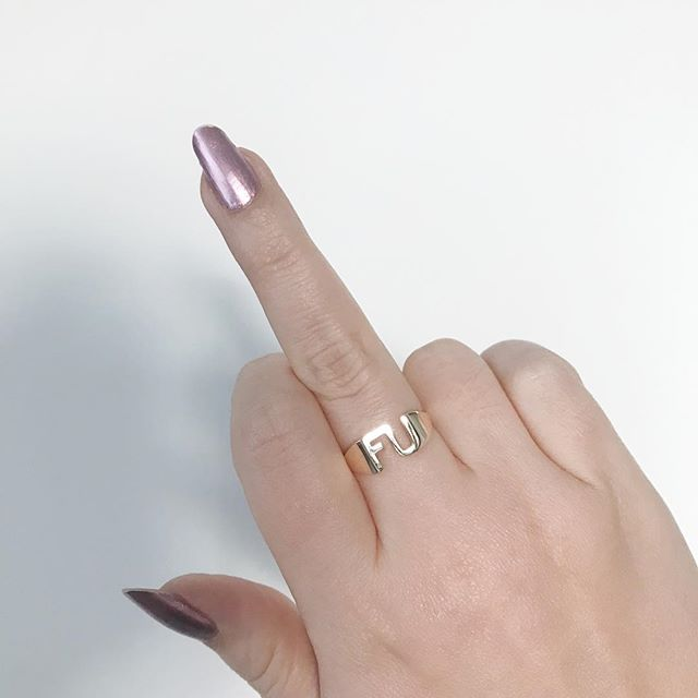 Sending this sweet little FU Ring across the country 💌 #withlove