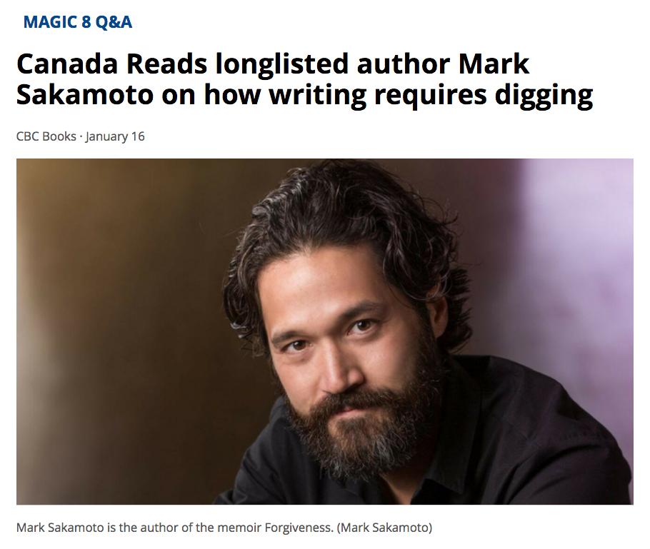 CBC Books Magic Q&A , January 16, 2018