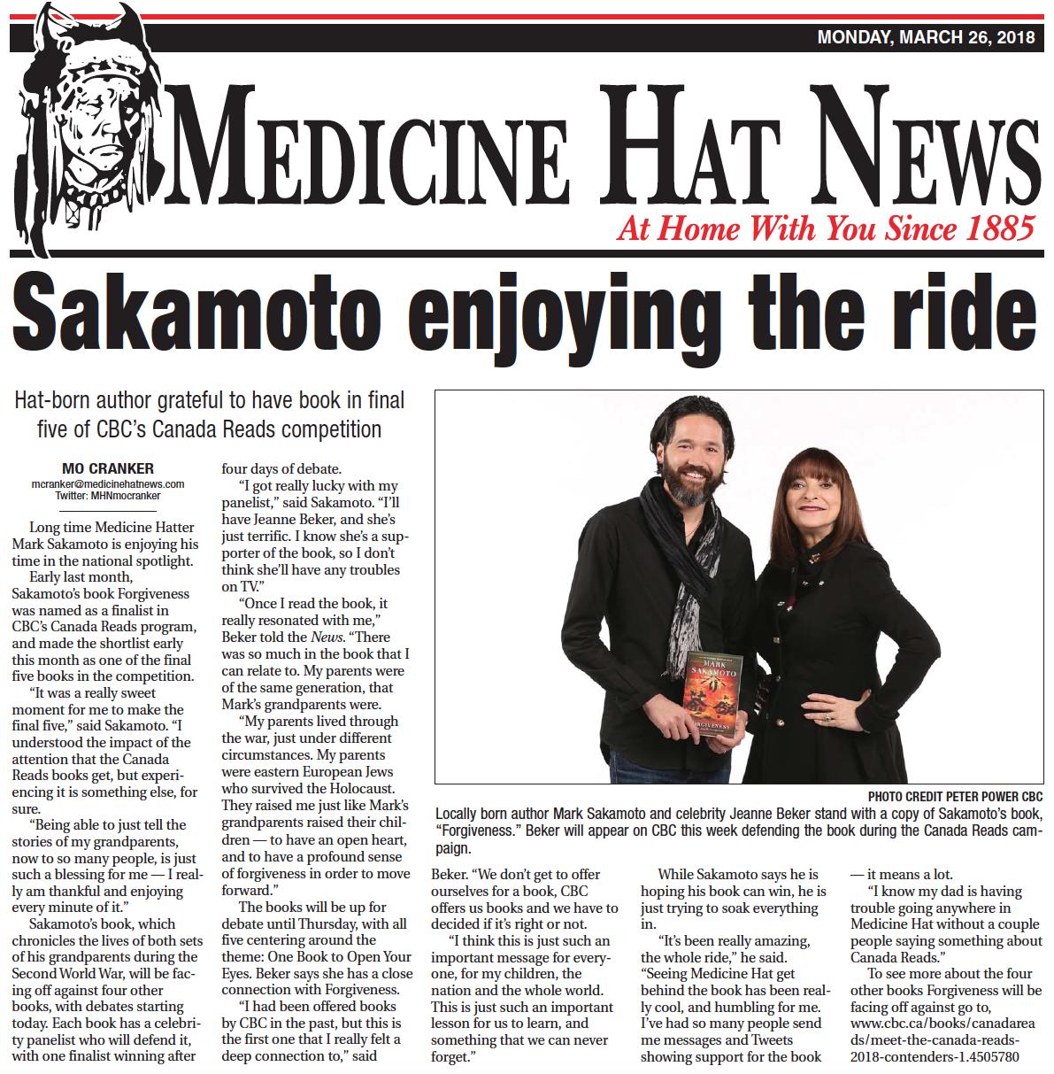 Medicine Hat News,  March 26, 2018
