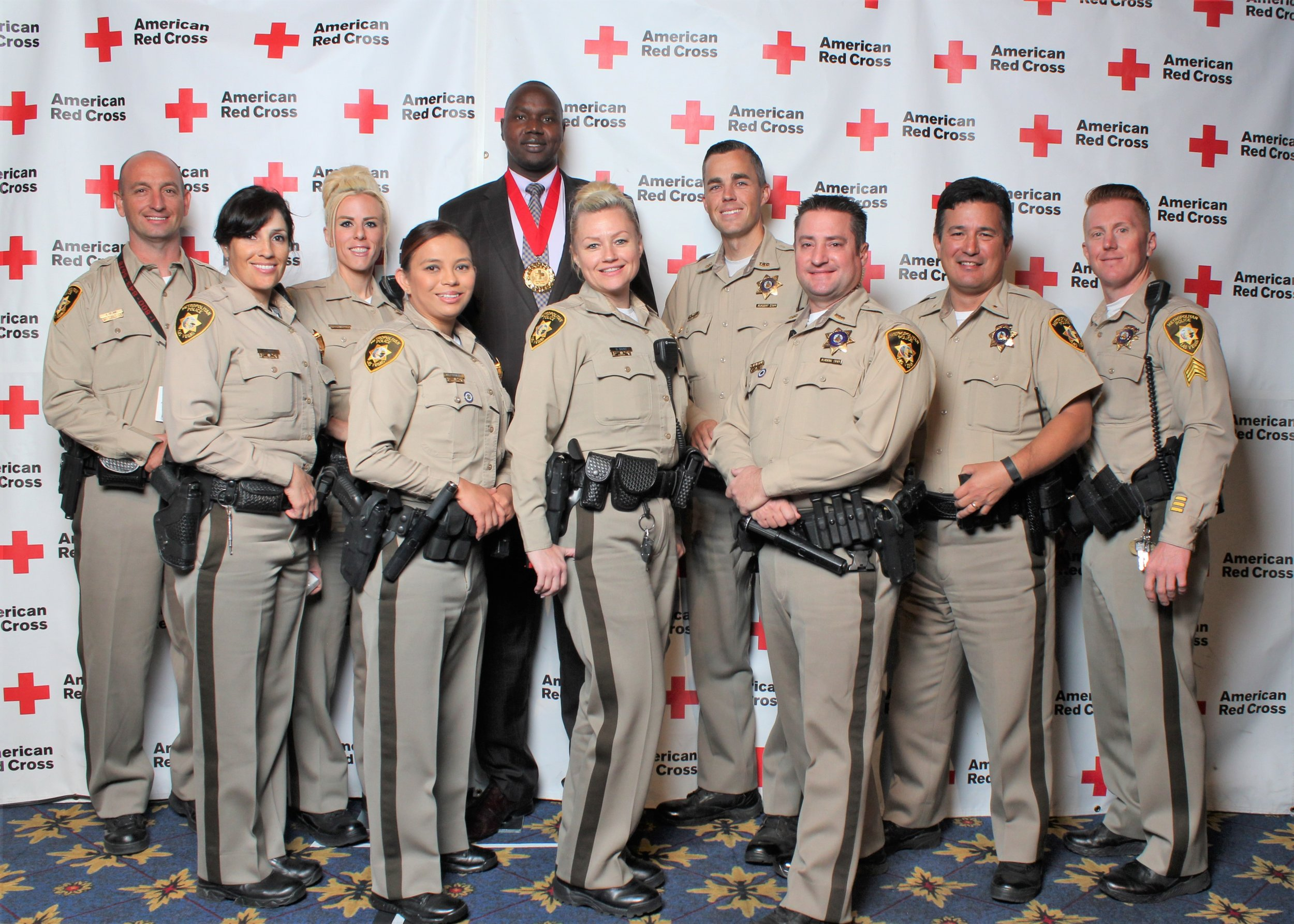 Feeling so protected with LVMPD team at the 2016 Everyday Heroes Award