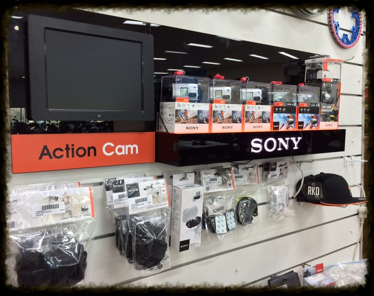 new to store - sony action cam range plus all the accessories you need