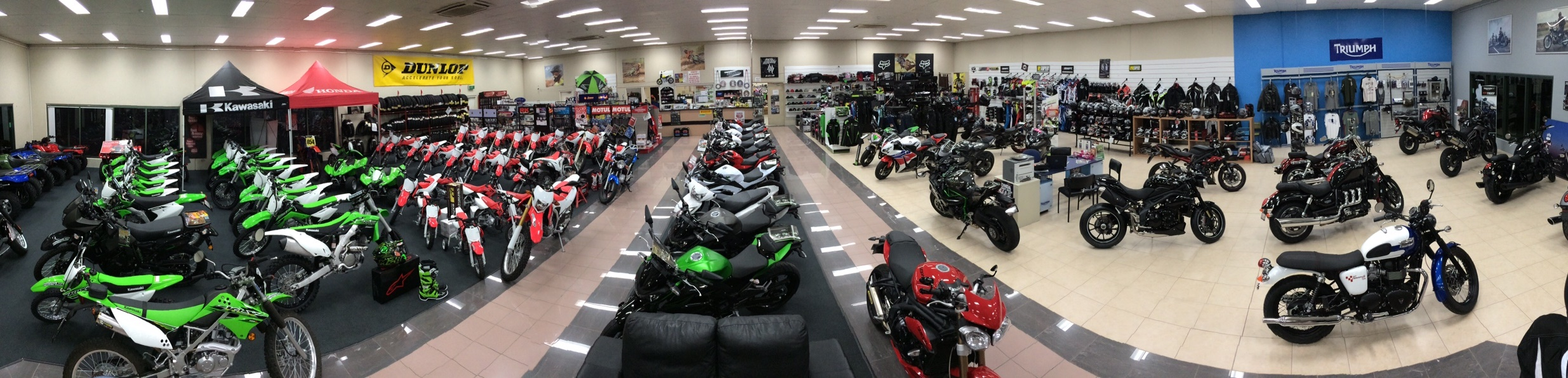harbour city motorcycles - showroom