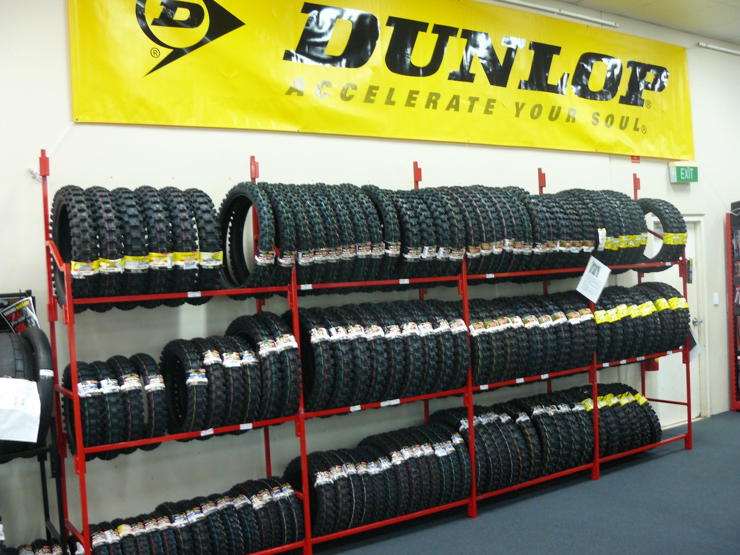 dunlop - mx & off road tyre rack