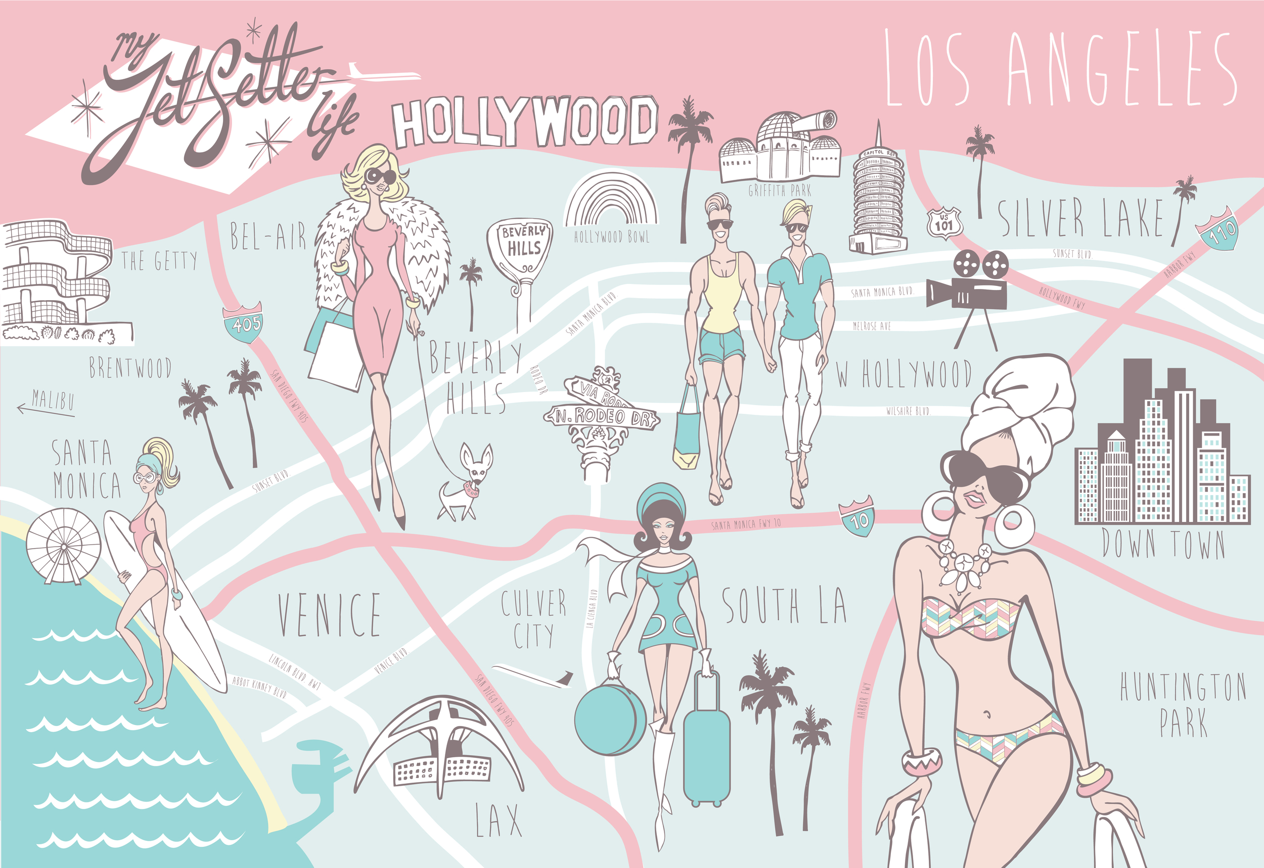 MyJetSetterLife LA Map