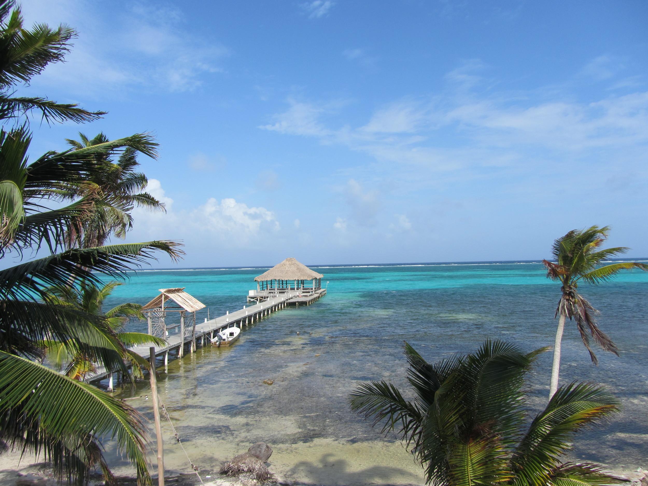 Swimming dock at the Ak'bol yoga retreat and resort